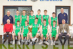 Castleisland Community College u16 team that won the u16 A All Ireland League final against St Malachy's Belfast in the National Basketball Arena Tallaght Dublin on Thursday front row l-r: Kieran Fleming, Gearoid Leonard, Eamon McLoughlin, Sean McCarthy, Tadgh O'Connell, Francis McAulliffe, Jack Nolan. Back row: Denny Porter, Paul White, JJ Casey, Declan Cahill, Tomas Nolan, Donagh O'Connor, Padraig Brosnan and Maurice Casey