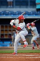 Palm Beach Cardinals Johan Mieses (37) at bat during a game against the Charlotte Stone Crabs on April 20, 2018 at Charlotte Sports Park in Port Charlotte, Florida.  Charlotte defeated Palm Beach 4-3.  (Mike Janes/Four Seam Images)