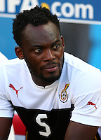 Michael Essien of Ghana on the substitutes bench