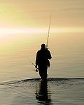 Fisherman at the Bridge into the Light - Captree State Park, Long Island