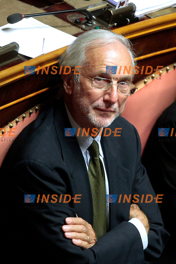 L'architetto Renzo Piano<br /> Roma 04/09/2013 Prima seduta in Aula per i Senatori a vita appena nominati<br /> First session for the new appointed Senators for life. <br /> Photo Samantha Zucchi Insidefoto