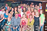 2402-2406.---------.Key to the Door.---------------.Melissa Donnelly(seated 2nd from the Rt)Gallowsfields Tralee celebrated her 21st birthday last Saturday night with a wild party in the Deacon,Castle St Tralee with her parents Gerard&Patricia,sister Sharon and many friends and family.