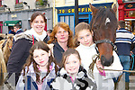 Looking at the Castleisland Horse fair on Saturday was l-r: Jacqueline Knightly, Christina Downey, Jessica O'Connor, Sophie and Natasha Knightly Cordal   Copyright Kerry's Eye 2008