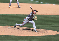25th July 2020, Los Angeles, California, USA;  San Francisco Giants pitcher Shaun Anderson (64) throws a pitch during the game against the Los Angeles Dodgers on July 25, 2020, at Dodger Stadium in Los Angeles, CA.
