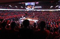 Virginia fans watch the start of the Virginia vs. Duke ACC basketball game Jan. 31, 2015 in Charlottesville, VA. Duke won 69-63.