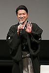 Kabuki actor Matsuya Onoe greets to the audience during the Princess Beauty Festival for the 35th anniversary of 25ans women's magazine on October 3, 2015, Tokyo, Japan. The event introduces beauty methods and the latest cosmetic products with celebrities and guests. (Photo by Rodrigo Reyes Marin/AFLO)