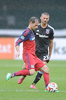 Washington, D.C.- March 29, 2014. Mike Magee of the Chicago Fire. The Chicago Fire tied D.C. United 2-2 during a Major League Soccer Match for the 2014 season at RFK Stadium.