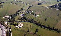 aerial photograph horse farm Lexington, Kentucky