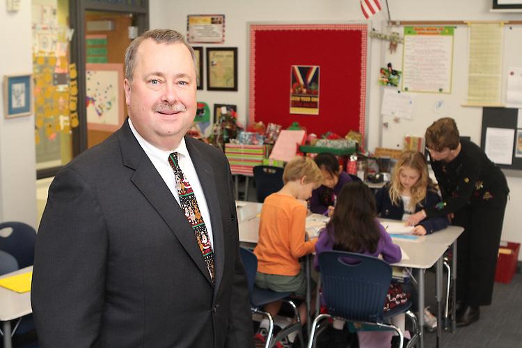 West University Elementary Principal JohnThreet and his effective teacher..
