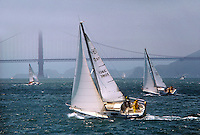 Sailing in San Francisco Bay (Golden Gate in the Background), California