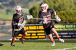 Palos Verdes, CA 03/30/10 - Wesley Hebert (Palos Verdes #32) in action during the Palos Verdes-Peninsula JV Boys Lacrosse game.