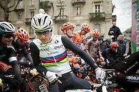 World Champion Michal Kwiatkowski (POL/Ettix-Quickstep) on the start line<br /> <br /> 106th Milano - San Remo 2015