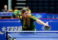 Trevor Hirth  (AUS)<br /> 2013 ITTF PTT Oceania Regional<br /> Para Table Tennis Championships<br /> AIS Arena Canberra ACT AUS<br /> Wednesday November 13th 2013<br /> © Sport the library / Jeff Crow