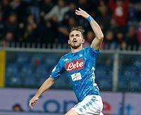10th November 2018, Stadio Luigi Ferraris, Genoa, Italy; Serie A football, Genoa versus Napoli<br /> Fabian Ruiz of Napoli  celebrates after score the 1 - 1 at 62th minute