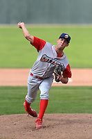 Williamsport Crosscutters pitcher Jonathan Musser (40) during a game against the Batavia Muckdogs on September 2, 2013 at Dwyer Stadium in Batavia, New York.  Batavia defeated Williamsport 6-3.  (Mike Janes/Four Seam Images)
