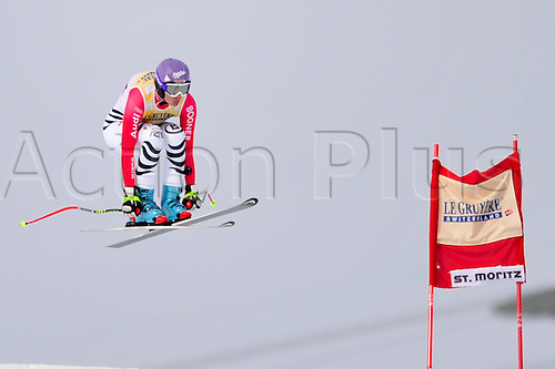January 30, 2010: Maria Riesch of Austria during the downhill portion of the Women's FIS Ski World Cup race in St. Moritz, Switzerland. Photo: CalSports/Actionplus - Editorial Use....