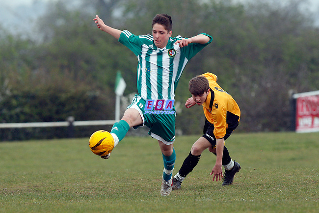 RUSTHALL v MAIDSTONE UNITED<br /> KENT YOUTH LEAGUE U16 CENTRAL SUNDAY 8TH APRIL 2012 JOCKEY FARM