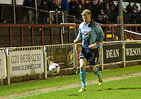 Richard Tait of Grimsby Town during the Vanarama National League match between Bromley and Grimsby Town at Hayes Lane, Bromley, England on 9 February 2016. Photo by Alan  Stanford.