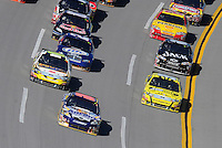 Nov. 1, 2009; Talladega, AL, USA; NASCAR Sprint Cup Series driver David Reutimann (00) leads the field during the Amp Energy 500 at the Talladega Superspeedway. Mandatory Credit: Mark J. Rebilas-