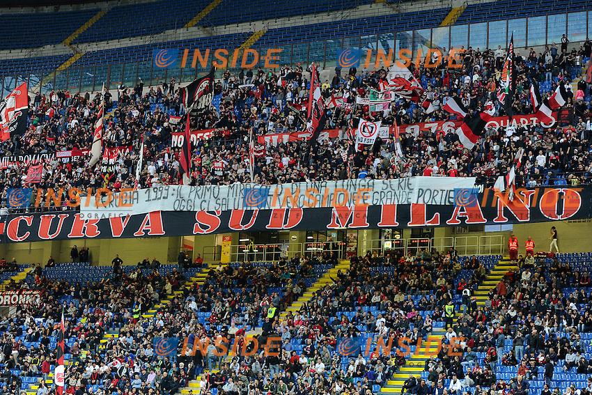 Striscione tifosi Milan per Abbiati<br /> Milano 14-05-2016 Stadio Giuseppe Meazza - Football Calcio Serie A Milan - AS Roma. Foto Giuseppe Celeste / Insidefoto