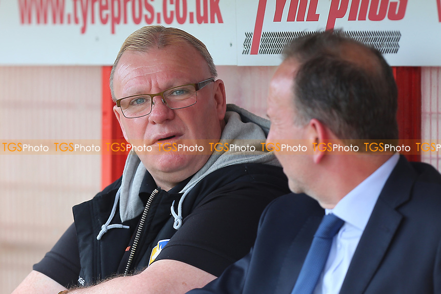 Mansfield Town manager Steve Evans during Stevenage vs Mansfield Town, Sky Bet EFL League 2 Football at the Lamex Stadium on 22nd April 2017