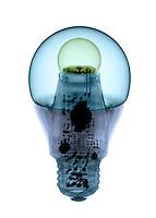 X-ray of an energy efficient light bulb.