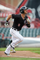 Erie SeaWolves right fielder Jeff McVaney (8) during a game against the Bowie Baysox on May 12, 2016 at Jerry Uht Park in Erie, Pennsylvania.  Bowie defeated Erie 6-5.  (Mike Janes/Four Seam Images)