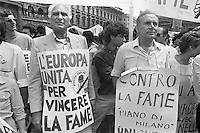 - Milan, demonstration for the United Europe, the Radical party leaders Marco Pannella and Enzo Tortora (june 1985) <br />
