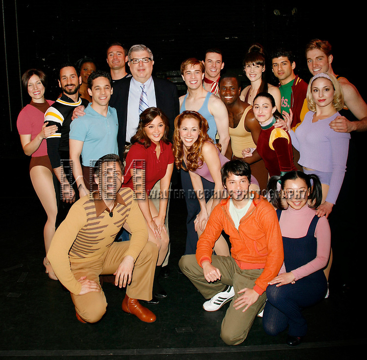 Marvin Hamlisch and Bob Avian with cast members: Michael Berresse, Brad Anderson, Mara Davi, Jeffrey Schecter, Yuka Takara, Michael Paternostro, Charlotte d'Ambroise, Deidre Goodwin, Ken alan, Heather Parcells, James T. Lane, tony Yazbeck, Chryssie Whitehead, Jessica Lee Goldyn, Paul McGill, Jason Tam & Natalie Cortez Attending the Meet and Greet / Introduction with the 2006 Cast of A CHORUS LINE at the Hudson Theatre in New York City. April 26, 2006