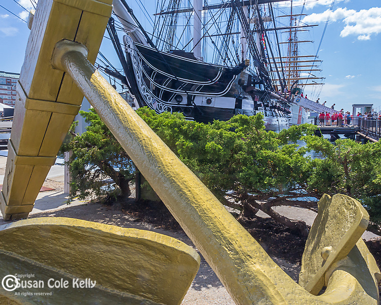 The USS Constitution at the Charlestown Navy Yard, Boston National Historical Park, Boston, Massachusetts, USA