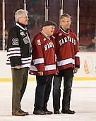 Mark Walsh, Bill Cleary, Scott Farden - The Union College Dutchmen defeated the Harvard University Crimson 2-0 on Friday, January 13, 2012, at Fenway Park in Boston, Massachusetts.
