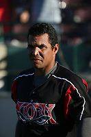 Yuniet Flores (17) of the Lake Elsinore Storm before a game against the Inland Empire 66ers at San Manuel Stadium on April 29, 2017 in San Bernardino, California. Inland Empire defeated Lake Elsinore, 3-1. (Larry Goren/Four Seam Images)
