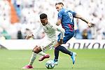 Real Madrid's Eder Militao (l) and Levante UD's Roger Marti during La Liga match. September 14,2019. (ALTERPHOTOS/Acero)