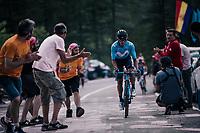 up the final climb to Pratonevoso<br /> <br /> stage 18: Abbiategrasso - Pratonevoso (196km)<br /> 101th Giro d'Italia 2018