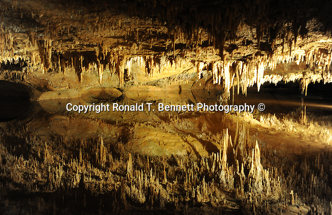 Luray Caverns, Luray cave, Luray Virginia, Skyline Drive, speleothems, stalactite, stalagmites, flowstone, great stalacpipe organ, lithopone, columns, Blue Ridge, Shenandoah Valley, Allegheny Range, Appalachian Mountains, Silurian limestone, calcite, manganese dioxide,  limestone, copper, Luray caverns active cave, new formation deposits accumulate, calcium carbonate, one cubic inch every 120 years, eroded forms, Pisa, Elfin Ramble, carbonate, flowstone, Empress Column, Giant's Hall, Double Column, alabaster, Mucor stalactites, fungus, crystals growing from side of active stalactite, Dream Lake, Wishing well, August 13 1878, Andrew J Campbell tinsmith, Benton Stebbins, Fine Art Photography by Ron Bennett, Fine Art, Fine Art photography, Art Photography, Copyright RonBennettPhotography.com © Fine Art Photography by Ron Bennett, Fine Art, Fine Art photography, Art Photography, Copyright RonBennettPhotography.com ©