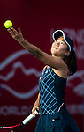 Nao Hibino of Japan vs Kristina Mladenovic of France during their Singles Round 2 match at the WTA Prudential Hong Kong Tennis Open 2016 at the Victoria Park Tennis Stadium on 13 October 2016 in Hong Kong, China. Photo by Marcio Rodrigo Machado / Power Sport Images
