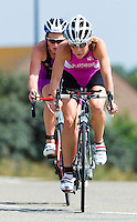31 JUL 2011 - LONDON, GBR - Liz Blatchford - Elite Women's race - Virgin Active London Triathlon (PHOTO (C) NIGEL FARROW)