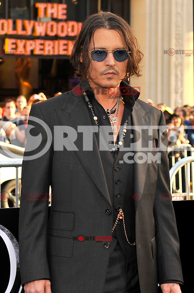 Johnny Depp at the premiere of Warner Bros. Pictures' 'Dark Shadows' at Grauman's Chinese Theatre on May 7, 2012 in Hollywood, California. © mpi35/MediaPunch Inc.