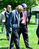 United States Representatives Charles Rangel (Democrat of New York), left, and Elliot Engel (Democrat of New York), right, arrive for the ceremony where U.S. President Barack Obama welcomed the Super Bowl Champion New York Giants to the White House in Washington, D.C. on Friday, June 8, 2012..Credit: Ron Sachs / CNP.(RESTRICTION: NO New York or New Jersey Newspapers or newspapers within a 75 mile radius of New York City)