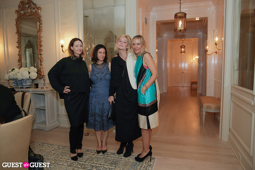 Jenni Kayne, Kerrilynn Pamer, Nitsa Citrine and Cindy DiPrima attend the CAP Beauty + Jenni Kayne Dinner on Nov. 5, 2015 (Photo by Inae Bloom/Guest of a Guest)