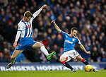 Jason Holt shoots past defender Stuart Findlay