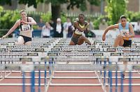 20 MAY 2007 - LOUGHBOROUGH, UK - Stephanie Walker, Zara Hohn and Katey Read - 100m Invitation A Hurdles - Loughborough International Athletics. (PHOTO (C) NIGEL FARROW)