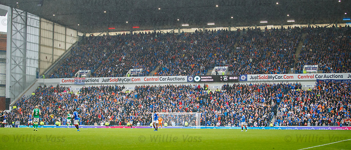 11.08.2019 Rangers v Hibs: Broomloan Road stand bouncing