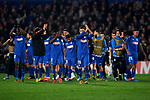 Players of Getafe FC celebrate the victory during UEFA Europa League match between Getafe CF and AFC Ajax at Coliseum Alfonso Perez in Getafe, Spain. February 20, 2020. (ALTERPHOTOS/A. Perez Meca)