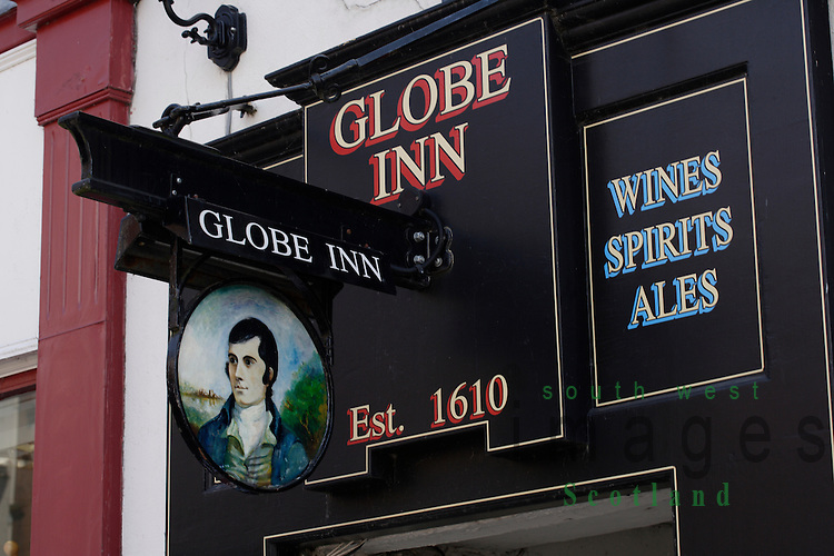 The Globe Inn Dumfries where once the poet Robert Burns used to drink Scotland UK