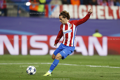 Antoine Griezmann (Atletico), MARCH 15, 2017 - Football / Soccer : UEFA Champions League round of 16 2nd leg match between Club Atletico de Madrid 0-0 Bayer 04 Leverkusen at the Vicente Calderon Stadium in Madrid, Spain. (Photo by Mutsu Kawamori/AFLO) [3604]