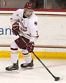 Luke McInnis (BC - 3) - The visiting University of Vermont Catamounts tied the Boston College Eagles 2-2 on Saturday, February 18, 2017, Boston College's senior night at Kelley Rink in Conte Forum in Chestnut Hill, Massachusetts.Vermont and BC tied 2-2 on Saturday, February 18, 2017, Boston College's senior night at Kelley Rink in Conte Forum in Chestnut Hill, Massachusetts.