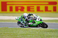 PHILLIP ISLAND, 27 FEBRUARY - Joan Lascorz (ESP) riding the Kawasaki ZX-10R (17) of the Kawasaki Racing Team during race one of round one of the 2011 FIM Superbike World Championship at Phillip Island, Australia. (Photo Sydney Low / syd-low.com)