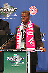 12 January 2007: Maurice Edu was taken with the overall #1 pick in the draft by Toronto FC. The 2007 MLS SuperDraft was held in the Indianapolis Convention Center in Indianapolis, Indiana during the National Soccer Coaches Association of America's annual convention.