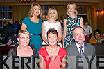 RETIRING: Paediatric nurse Eileen Carmody, Lahern, Tralee (seated centre) surrounded by family, friends and colleagues as she celebrated her retirement from the HSE Kerry community services last Friday night in the Grand hotel, Tralee.